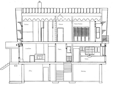 section of a house plan how to draw house cross sections