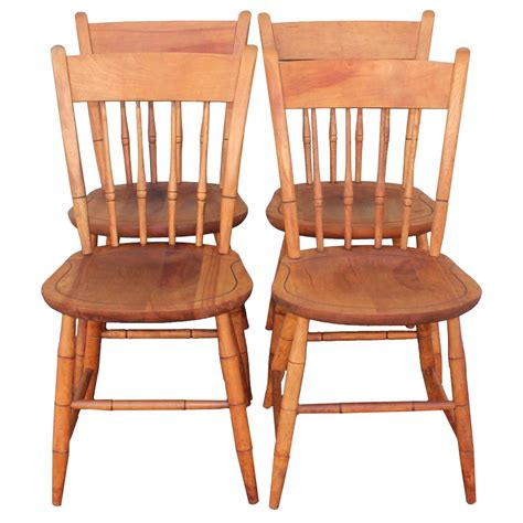 Nichols And Chairs by Signed Nichols And Thumb Back Chairs Set