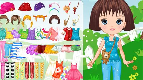 sweet games for girls girl games cute doll on lawn dress up game little girl gameplay