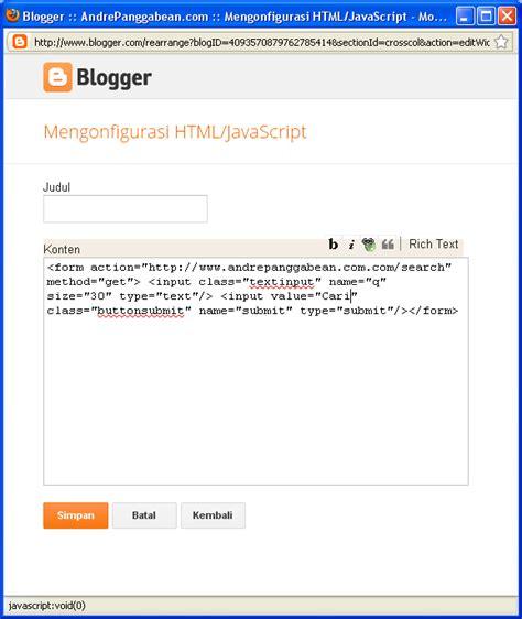 membuat kotak iklan di blog hamzah jadul software cara membuat mesin pencari di blog