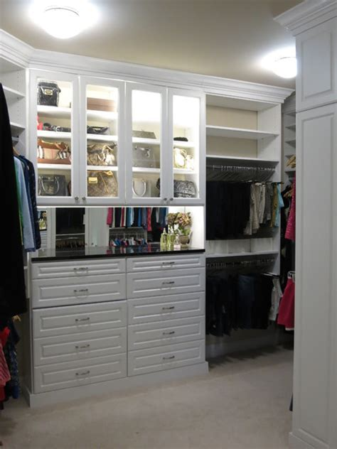 custom white walk in closets traditional closet dc