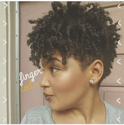 thick coiled hair finger coils on short thick natural hair alexandria nicole