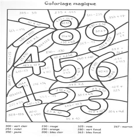 Coloriages Magiques En Ce Qui Concerne Coloriage Magique Coloriage Magique Ce1 Addition L