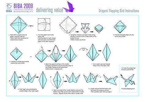 Origami Bird Pdf - origami how to make origami flying birds friday