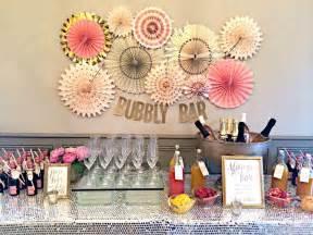 bubbly bar blush pink gold bridal wedding shower