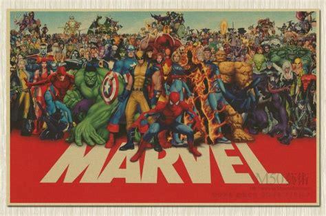 imagenes retro super heroes aliexpress com buy marvel cuadros super hero retro kraft
