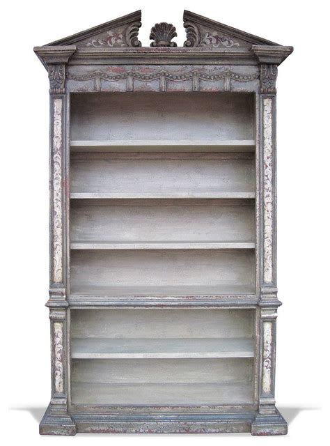 world bookcase venetian grey distressed