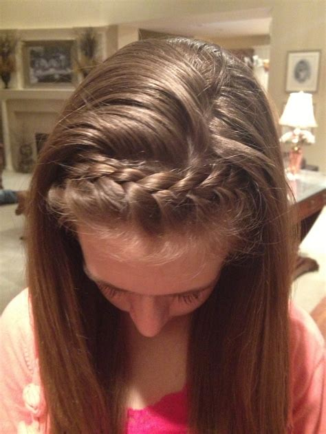 hairband style braid french braid headband h a i r pinterest french braid