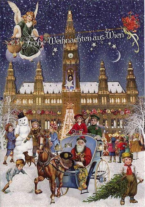 card  germany shows vienna austria christmas cards christmas vintage christmas cards