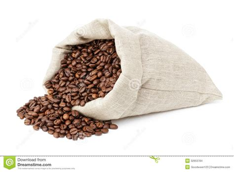 free wallpaper zarna roated coffee beans spill out of the bag stock images