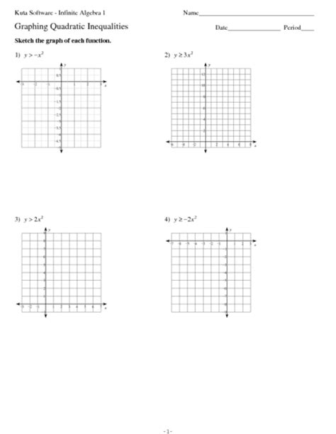 printable math worksheets solving and graphing inequalities graphing quadratic inequalities worksheet worksheets