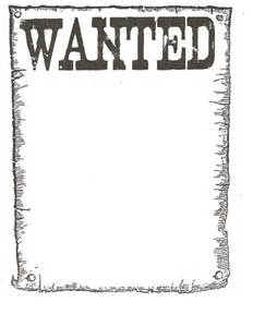 wanted poster template free printable free wanted poster template search western