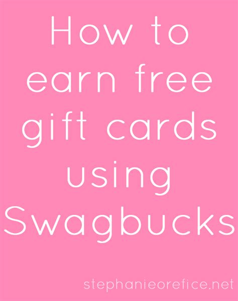 Swagbucks Gift Card - how to earn gift cards through swagbucks