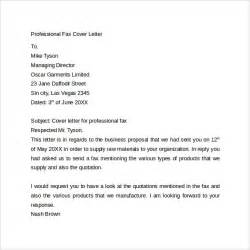Cover Fax Letter by Fax Cover Letter 9 Free Sles Exles Format
