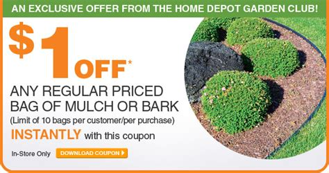 the home depot 1 bag or mulch or bark