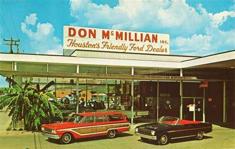 Don McMillian FORD Houston, TX 1963   car dealership