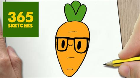 365 Sketches Drawings by How To Draw A Carrot Easy Step By Step Drawing