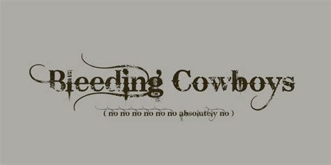 bleeding cowboy tattoo 5 fonts that will kill your design 5 great alternative fonts