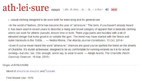 Racked Definition by Athleisure Gets A Dictionary Definition Racked