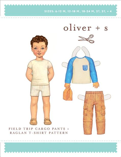 pattern review oliver s oliver s os035fc field trip cargo pants and raglan t