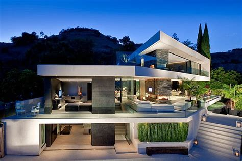 houses in the hills minimalist openhouse design in hollywood hills california