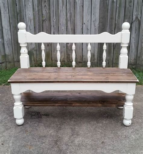 make bench out of headboard 25 best ideas about headboard benches on pinterest
