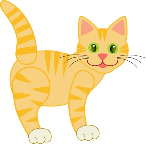 Cat And Clipart Free free yellow cat clip