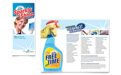 cleaning service brochure templates house cleaning housekeeping brochure template design