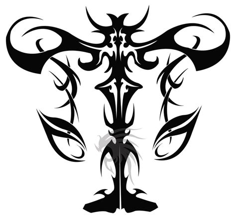 tribal libra scales tattoo design photo 4 tattoos