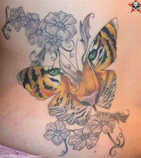 butterfly tiger tattoos designs