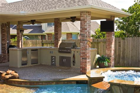 Backyard Designs With Pool And Outdoor Kitchen by Terrific Outdoor Patio Design For Lounge Space Backyard