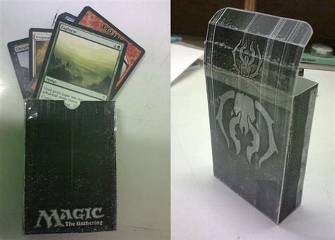 magic the gathering drachen deck magic the gathering deck box by fabiojapaxd on deviantart