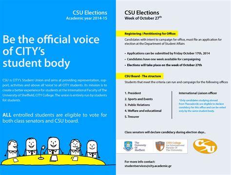 Csu Academic Calendar Csu Elections Academic Year 2014 15