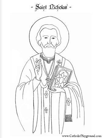 saint nicholas coloring page st nicholas day pinterest