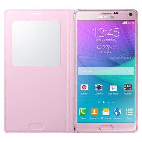 Flipcase Samsung Galaxy Note 4 samsung galaxy note 4 s view flip light pink