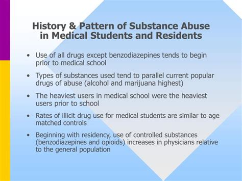 history and pattern of drug use ppt medicine self medication what every resident