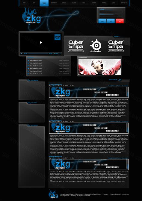zk gaming template by untouchable media on deviantart