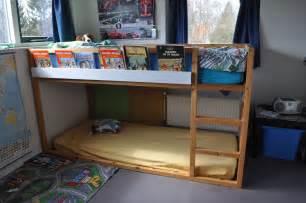 Bunk Bed Shelf Ikea High Sleeper Bookshelf Kura Ribba Ikea Hackers Ikea Hackers