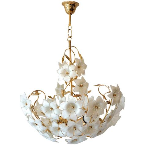 flower chandelier italian murano flower chandelier at 1stdibs
