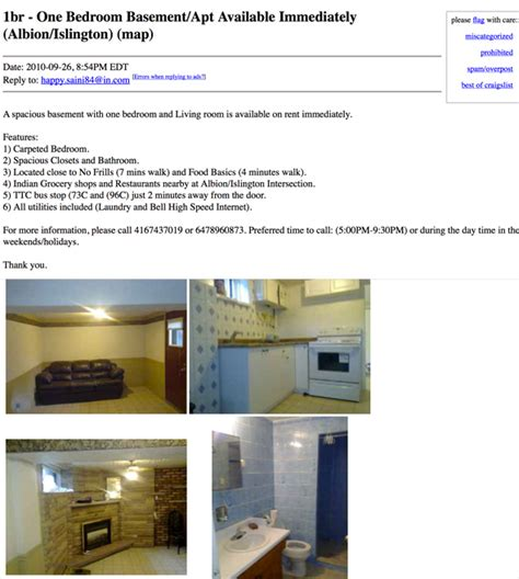 craigslist appartments for rent craigslist toronto apartments for rent 11972