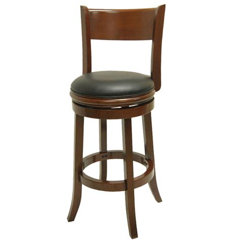 Unfinished Swivel Bar Stools by Boraam Solid Wood Swivel Bar Stools