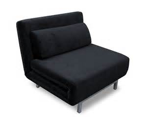 convertible black chenille chair bed lk06 by ido
