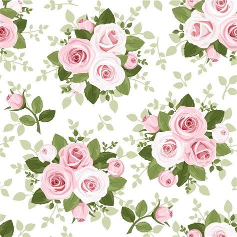 pink rose pattern clipart pink roses seamless background vector pink roses seamless
