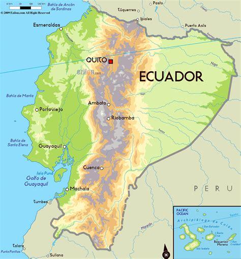 ecuador physical map large physical map of ecuador with major cities ecuador