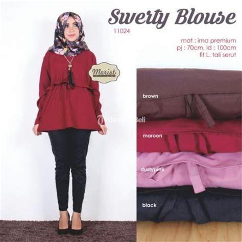 Atasan Baju Anak Tunik Adem Murah swerty blouse baju atasan wanita kekinian model terbaru harga murah surakarta dijual
