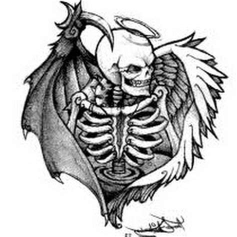 angels and demons tattoo designs and designs vs demons