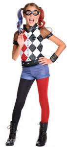 deluxe harley quinn girls costume tv book and film