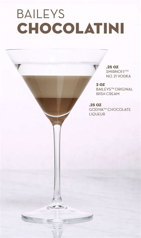 cocktail drinks recipe easy baileys irish cream chocolate martini