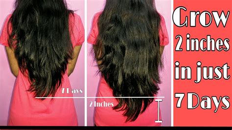 how much does black hair grow in a month grow 2 inches in 7 days indian hair growth secret how