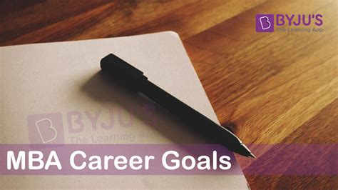Mba Goals by 4 Things To Define Goals In Mba Essay Tips To Describe